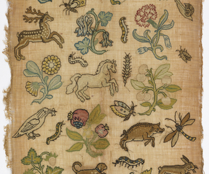 embroidery, 17th century, and animals image