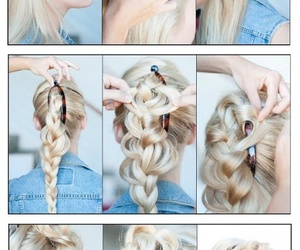 banana, braided, and hair image