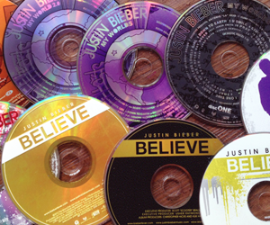 justin bieber and cd image