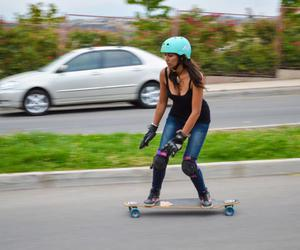 free, longboard, and girl image