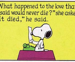 snoopy, die, and peanuts image