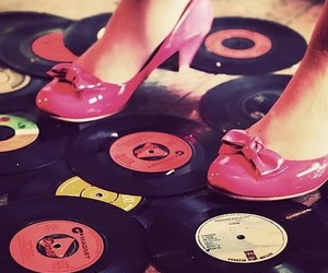 pink, shoes, and retro image