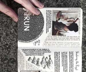 journal, book, and grunge image