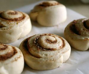 baking, buns, and cinnamon rolls image