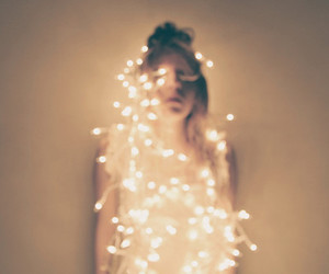 light, girl, and fairy lights image