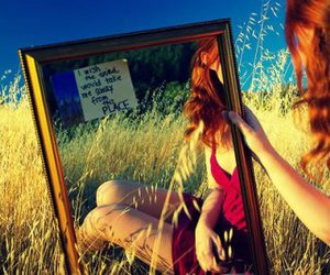 girl and mirror image