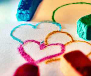 heart, hearts, and chalk image