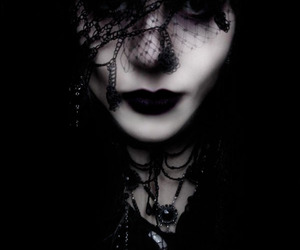black lips, goth, and gothic image
