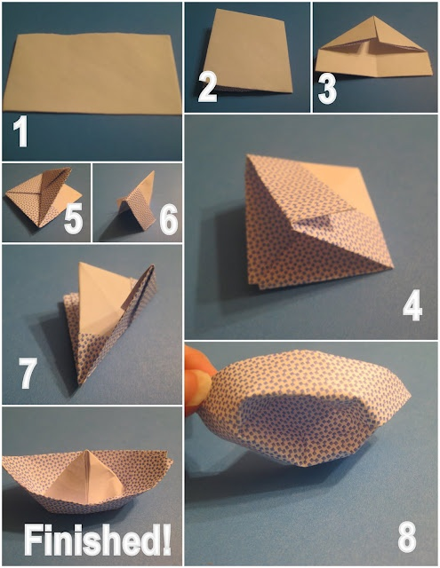 Origami Paper Boat Folding Instructions