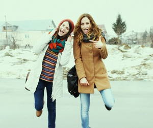 crazy, girls, and winter image