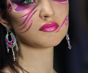 makeup, beauty, and Paon image