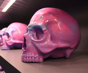 art, calavera, and pink image
