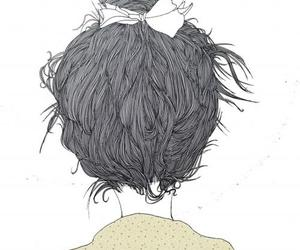 girl, illustration, and drawing image