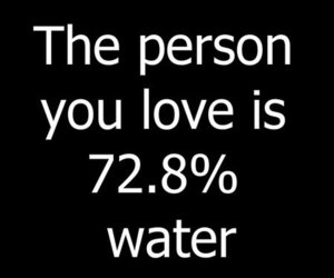 water, love, and typography image
