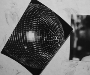 black and white, discoball, and hedi slimane image