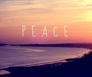 peace, beach, and quote image