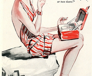 illustration cigarettes girl image