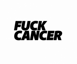 black and white, cancer, and fuck image