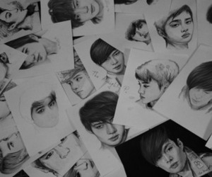exo, draw, and kpop image