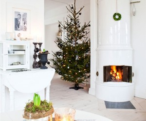 christmas, fire, and furniture image