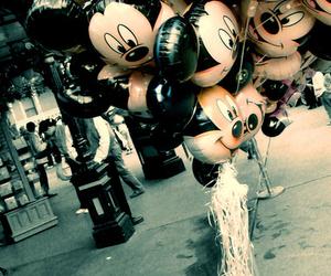 ballon, mickey, and smile image