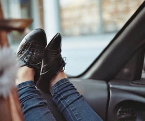 girl, shoes, and vintage image