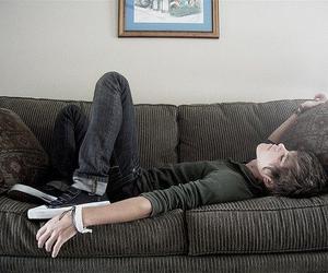 boy, guy, and sleep image
