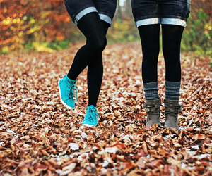 girl, shoes, and autumn image