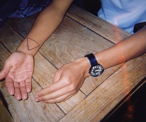 hipster, triangle, and tattoo image