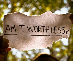 worthless, quote, and text image