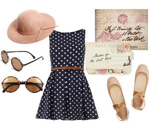dots, dress, and girl image