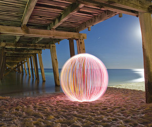 beach, light, and photography image