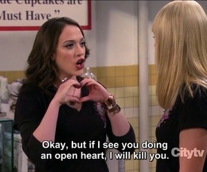 quote and 2 broke girls image