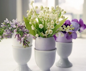 flowers, easter, and eggs image