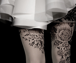 ink, inked, and legs tattoo image