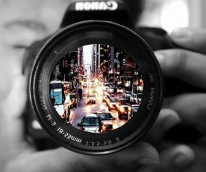 city, imagination, and photography image
