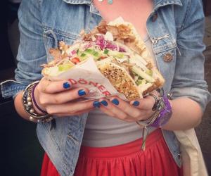 food, girl, and kebab image