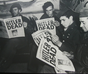 hitler, dead, and black and white image
