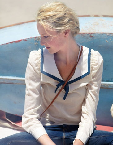 blonde, blue, and boat image