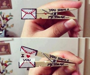 message and love image