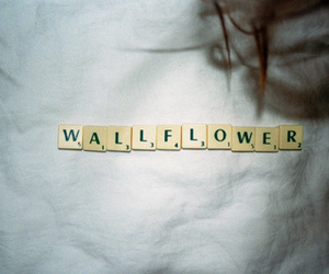 wallflower, vintage, and scrabble image