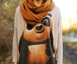 fashion, girl, and panda image