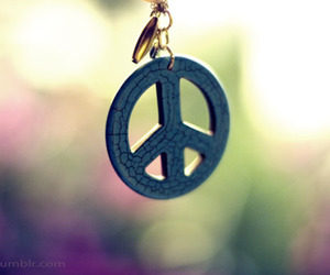 peace, photography, and necklace image