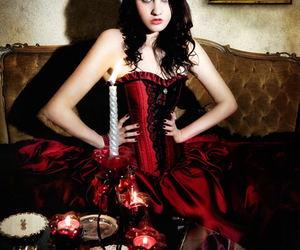 beauty, corset, and goth image
