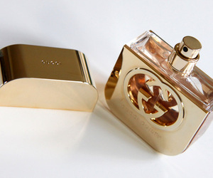 perfume, gucci, and gold image