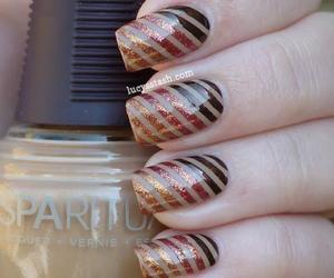 coffee, glitter, and nail art image