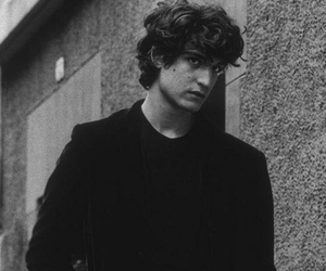 black and white and louis garrel image