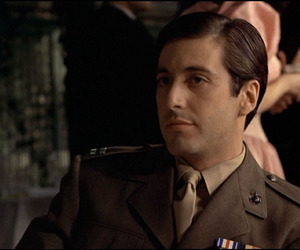al pacino, godfather, and michael corleone image