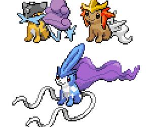 8-bit, pokemon, and entei image
