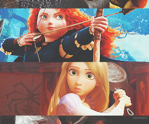 brave, tangled, and love image